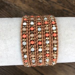 New Auth Chan Luu Rose Quartz & Salmon Mix Five Wr
